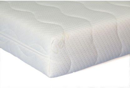 Koudschuim matras 20 cm maatwerk trapezium met 2 schuine hoeken