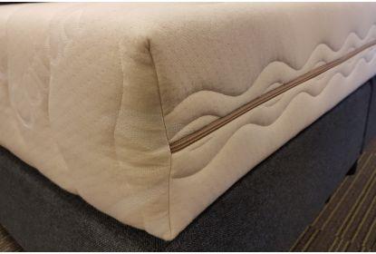 Koudschuim matras Organic stevig maatwerk trapezium met 2 schuine hoeken