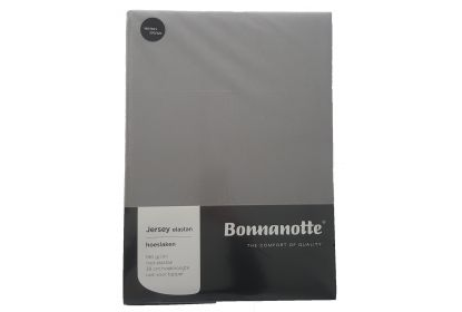 Bonnanotte jersey elastan hoeslaken midden grijs