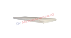 Topdekmatras traagschuim 6 cm Maatwerk trapezium met 2 schuine hoeken